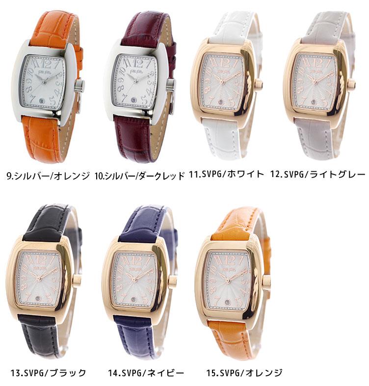 344f1a3767 【楽天】フォリフォリ follifollie 腕時計 時計 レディース レザーベルト ステンレスベルト クォーツ S922 ブラック  ブラウンの売れ筋人気ランキング商品