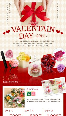 VALENTINE DAY 2017 フラワーバレンタイン