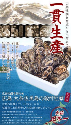 広島・大奈佐美島の殻付牡蠣