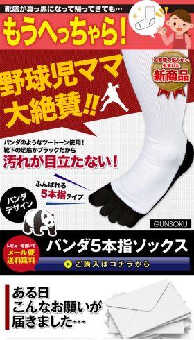 パンダ5本指ソックス