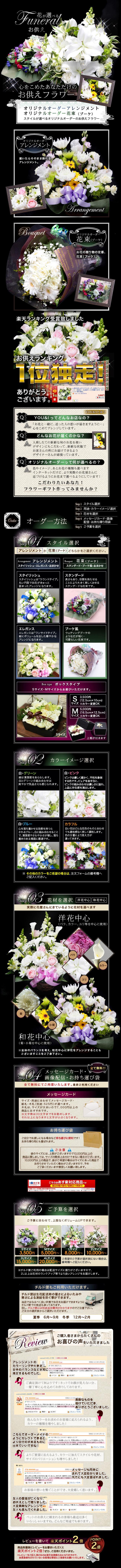 花が選べるお供えフラワー
