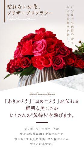 プリザーブドフラワー紹介ページ