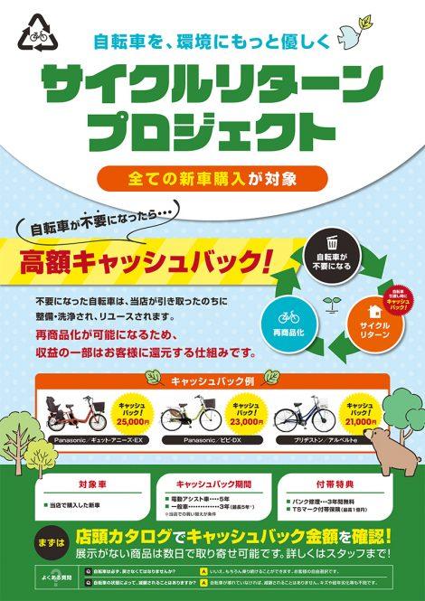 サイクルリターンプロジェクト 案内ポスター